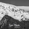 247  G Mt  Rainier and Banner Cloud BW