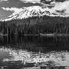44  G Rainier and Reflection Lakes BW
