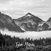 482  G Tatoosh and Clouds BW