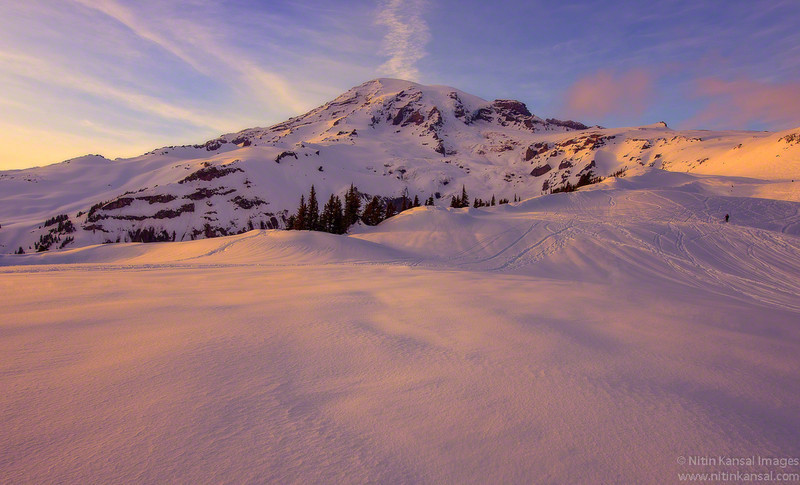 ~ Mt Rainier Alpine Glow at dusk ~