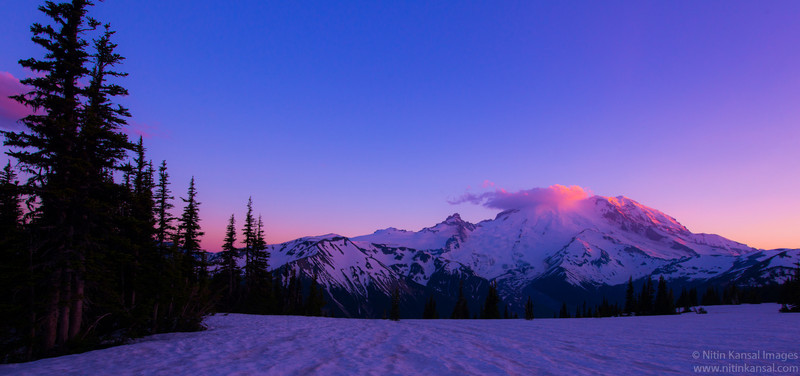 Mt Rainier at sunset, Sunrise point