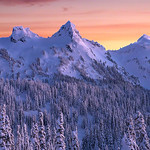 "Snow Capped Tatoosh Range - Mt Rainier National Park<br /> <br /> Shooting at snow was fun and so was driving.. except putting and removing snow chains on cars... Made me think several times, is it worth all this effort... And only answer was...heck yesss!!<br /> <br /> ©Nitin Kansal Photography. Please do not copy, download or use my images without my written permission. <br /> If you want to share, please share it using ""share"" feature by 500px and link back to my website(  <a href=""http://www.nitinkansal.com"">http://www.nitinkansal.com</a>). If you want to share it on your blogs/pininterest, please mention in comments with link to you blog/pininterest.<br /> <br /> Enjoy!!"