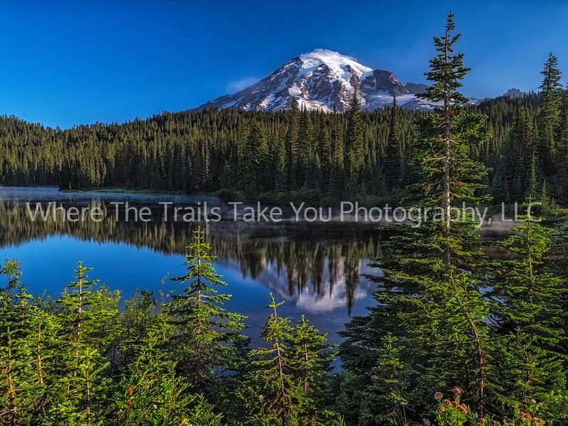 Mid Morning At Reflection Lakes