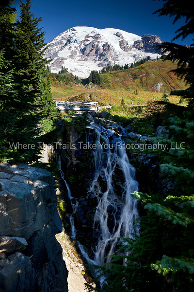14  Waterfall and Mt. Rainier