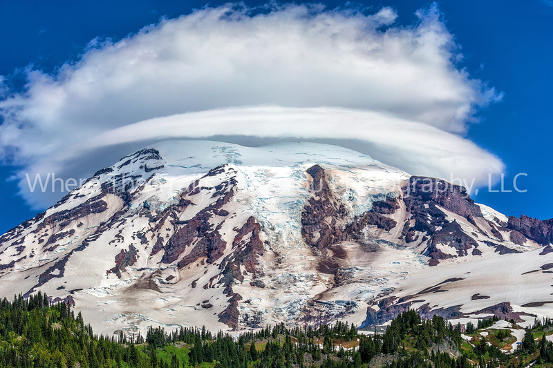 71.  A Lenticular Cloud Over Mt Rainier