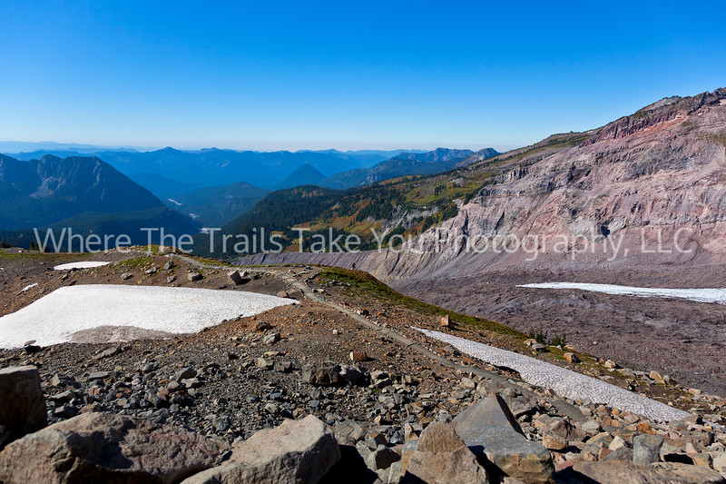 9.  Looking Down The Glacier's Path