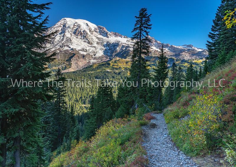 Looking Down The Pinnacle Peak Trail
