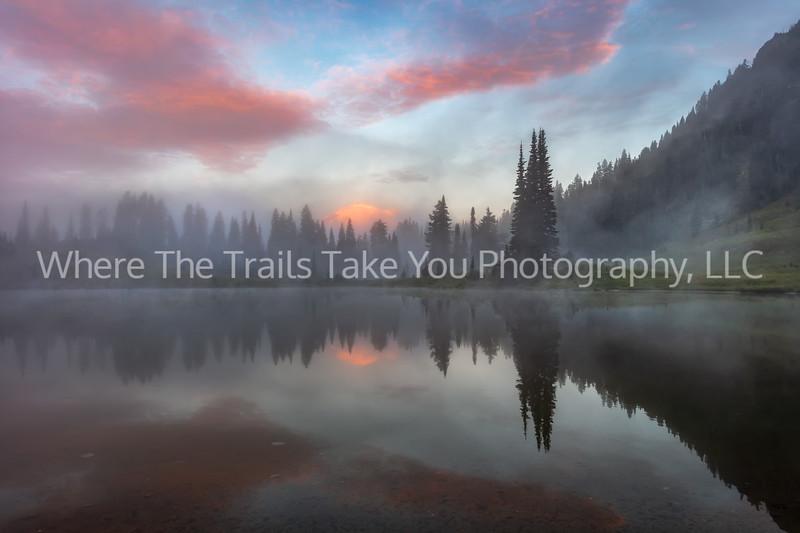 31.  A Foggy Morning On Tipsoo Lake