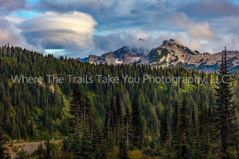 57.  The Tatoosh Range And A Lenticular Cloud
