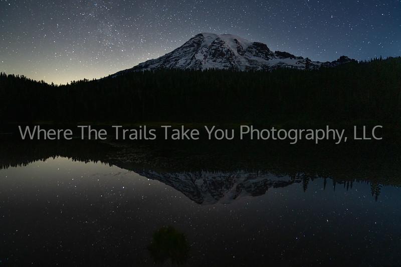 Pre-Dawn At Reflection Lakes