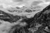 08-2013 Mt Rainier Cloudy B&W
