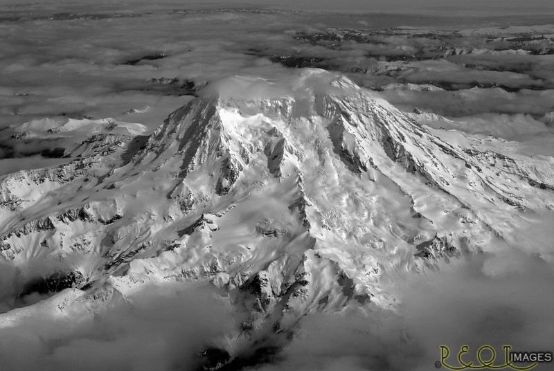 Another Rainier for print B&W