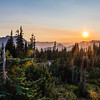 Sunset at Paradise Mt Rainier