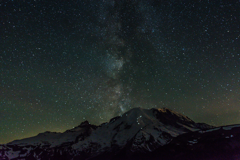 Milky Way Climbers Mt Rainier