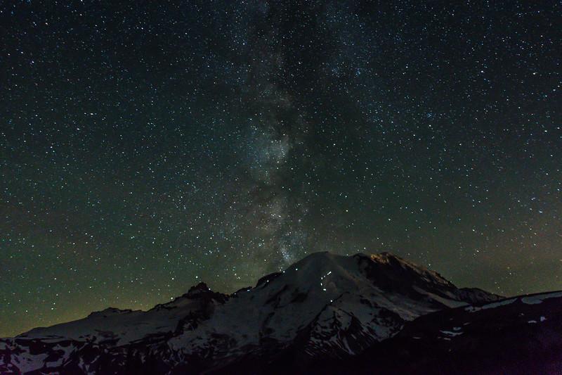 Milky Way at Sunrise, Mt Rainier