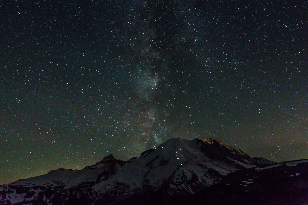 Milky Way at Sunrise, Mt Rainier