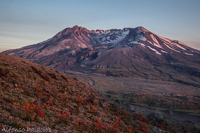 Sunset at Mt. St. Helens National Monument