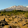 Mt St Helens : Hiking along the Lava canyon near Cougar, Washington August 2012.