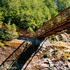 A great hiking trail allows hikers to explore this canyon that was blown out from the lahar of Mt St Helens.