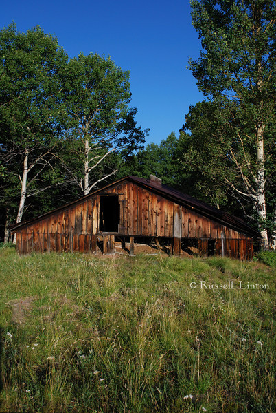Sunken Barn <br /> Lost amongst the trails in Mueller State Park, Divide, Colorado.
