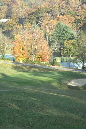 The Green on #18 at Asheville Municipal Golf Course