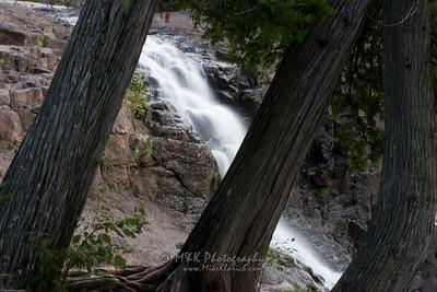 Gooseberry Falls Thru Trees-2067