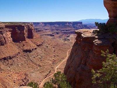 White Rim Road from overlook