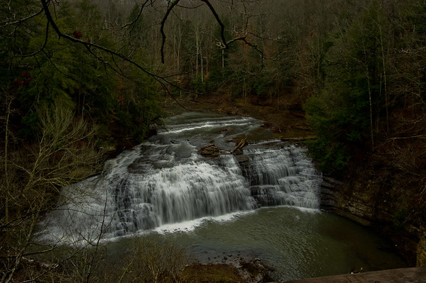 Middle falls at Burgess Falls State Park, Cookville, Tennessee