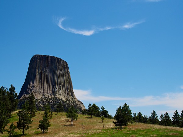 Devil's Tower with horns