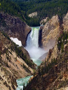 Yellowstone Lower Falls from Artist's Point 2