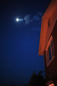 The moon in Taos, New Mexico