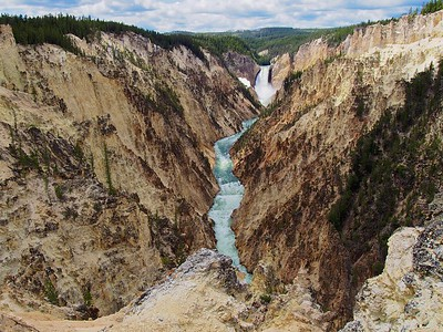 Yellowstone Lower Falls and rapids