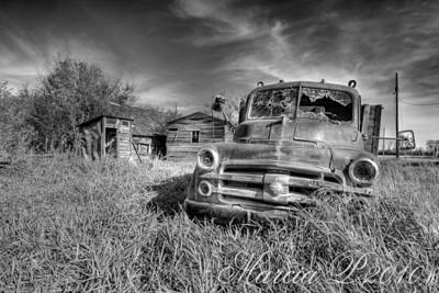 A Derelict Farm Yard near Bents, Saskatchewan