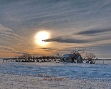 Mid-winter Scene in Saskatchewan