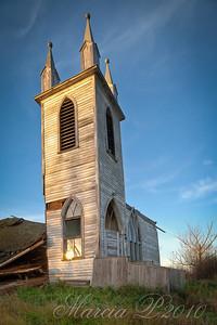 The Disused Church Steeple at Laura, Saskatchewan