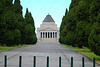 Utterly boring view of the Shrine of Remembrance, Melbourne
