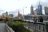 Looking downtown across the Princess Bridge, Melbourne