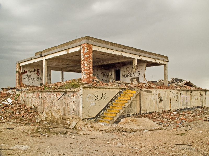 The derelict Magnesium site at Steetely, Hartlepool.