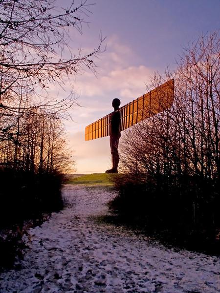 Angel of the North sunset Gateshead Dec 2011