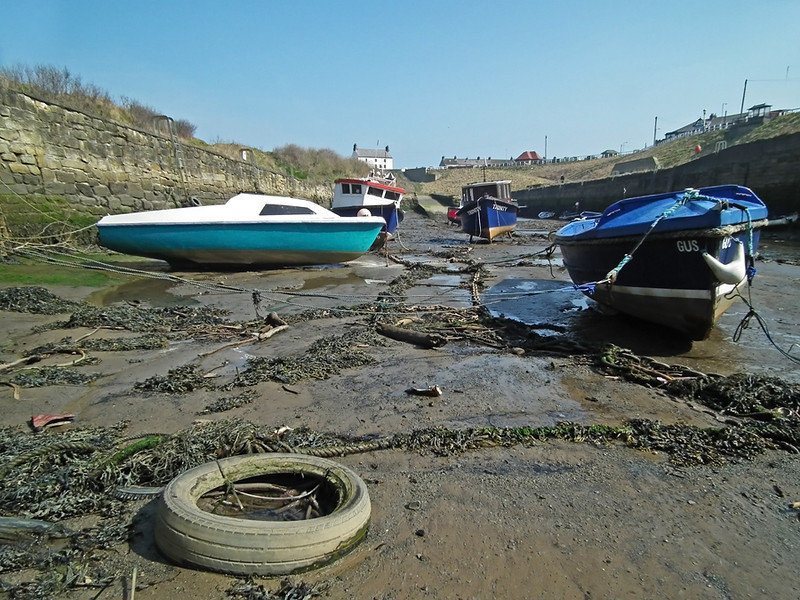 Seaton Sluice harbour, Northumberland