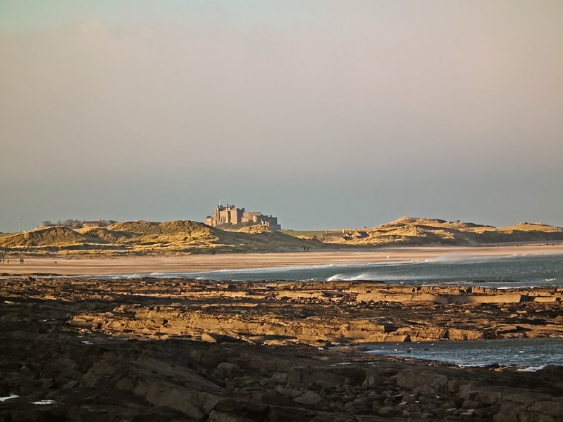 Bamburgh Castle, Northumberland from Seahouses