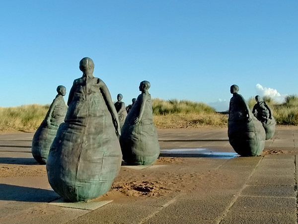 The famous 'Sand Dancers' at South Shields.
