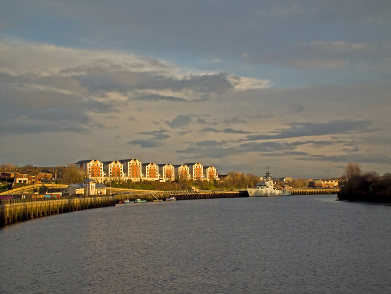 Newcastle Quayside sunset December