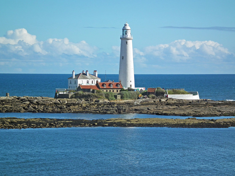 St Mary's Lighthouse, Whitley Bay, from Seaton Delaval Beach, Tyneside 8
