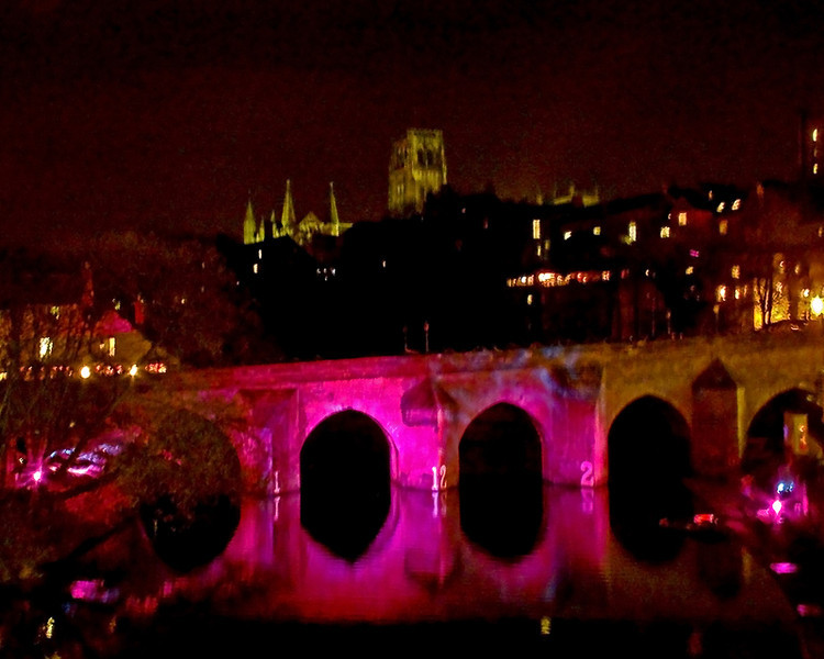 Durham Lumiere  November 2011<br /> <br /> Bridges lit up by Martin Warden