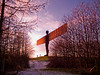Angel of the North sunset Gateshead Dec 2011