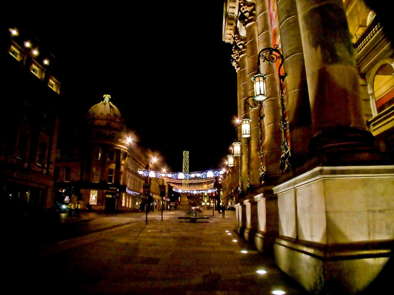 Newcastle at night Dec 2011