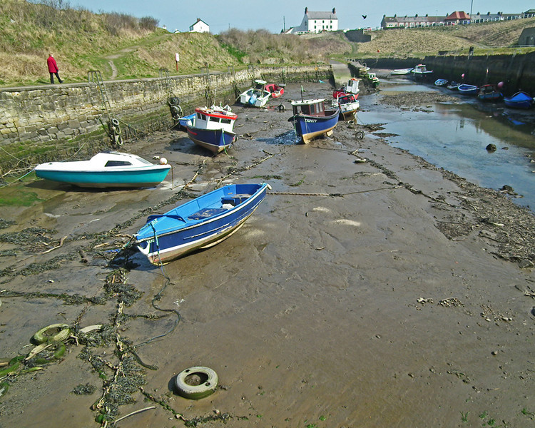 Seaton Sluice harbour, Northumberland