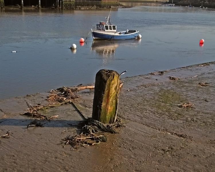 Fishing boat on River Wear, Sunderland