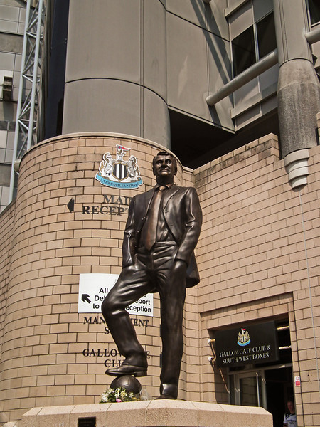 Sir Bobby Robson statue at St James Park Newcastle